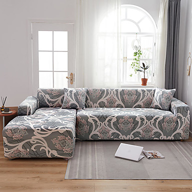 cheap Home Textiles-Stretch Slipcover Sofa Cover Couch Cover Floral Printed Sofa Cover Stretch Couch Cover Sofa Slipcovers for 1~4 Cushion Couch with One Free Pillow Case