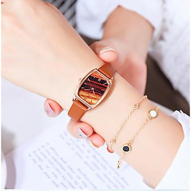 baratos Relógios Quadrados e Retangulares-Mulheres Relógios de Quartzo Quartzo Fashion Casual Relógio Casual Couro PU Analógico - Branco Azul Rosa
