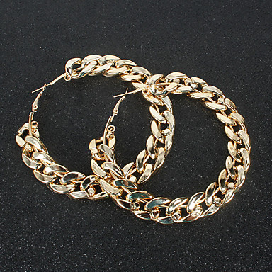 cheap Earrings-Women's Hoop Earrings Hollow Out Weave Classic Vintage Earrings Jewelry Gold / Silver For Party Bar 1 Pair