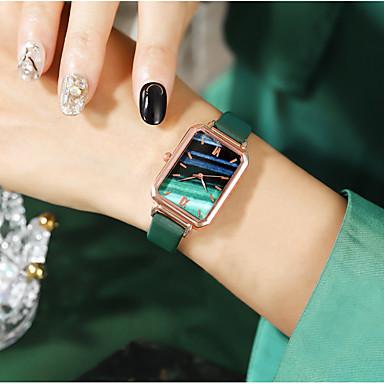 baratos Relógios Quadrados e Retangulares-Mulheres Relógios de Quartzo Quartzo Fashion Luxo Relógio Casual Couro PU Analógico - Branco Preto Vermelho