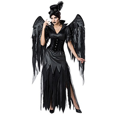 cheap Halloween Props-Witch Movie / TV Theme Costumes Cosplay Costume Costume Adults' Women's Halloween Halloween Festival Halloween Festival / Holiday Satin / Tulle Sequin Black Women's Easy Carnival Costumes Solid / Hat