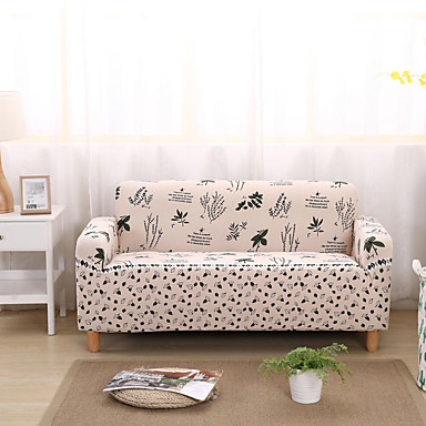 cheap Slipcovers-Stretch Slipcover Sofa Cover Couch Cover Leaf Printed Sofa Cover Stretch Couch Cover Sofa Slipcovers for 1~4 Cushion Couch with One Free Pillow Case