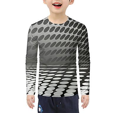 cheap Baby & Kids-Kids Boys' Active 3D Long Sleeve Tee Gray