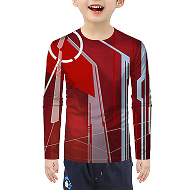 cheap Baby & Kids-Kids Boys' Active 3D Long Sleeve Tee Red