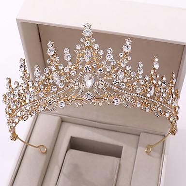 billige Hår Smykker-Dame Til Bryllup Fest & Aften Maskerade Smykke Serier Romantisk serie Pave Syntetisk Diamant Legering Sølv Gylden Blå 1pc