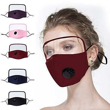 cheap Face Masks-1 Pc Protective Masks Pure Cotton Mask Thin Cotton Protective One-piece Mask Full Face Screen Face Protection Eye Protection Cotton Mask
