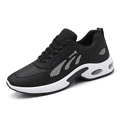 abordables Chaussures de Course Homme-Homme Automne Sportif Athlétique Chaussures d'Athlétisme Course à Pied Maille / Tissu élastique Ne glisse pas Noir / Rouge / Gris