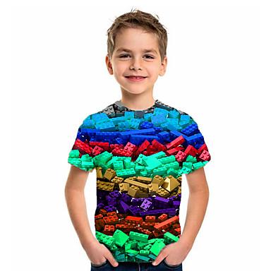 cheap Baby & Kids-Kids Boys' Basic Holiday Geometric Print Short Sleeve Tee Purple