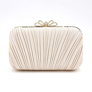 cheap Clutches & Evening Bags-women's polyester / alloy evening bag handbags solid color black / champagne / dark blue