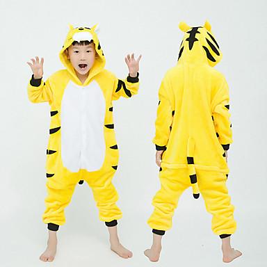 cheap Kids' Fashion-Kids Girls' Active Solid Colored Sleepwear Yellow