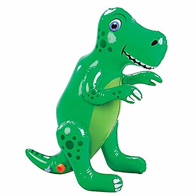 cheap Inflatable Ride-ons & Pool Floats-inflatable dinosaur sprinkler, fun outdoor t-rex water toy and lawn accent