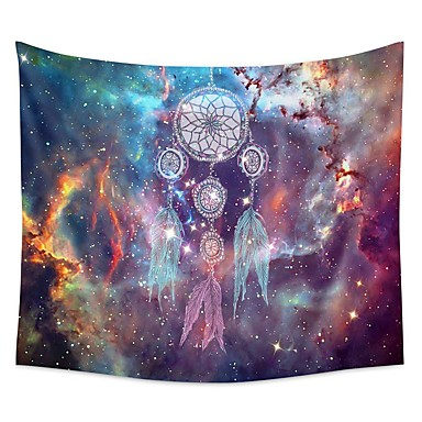 cheap Wall Tapestries-Wall Tapestry Art Decor Blanket Curtain Picnic Tablecloth Hanging Home Bedroom Living Room Dorm Decoration Polyester Colorful Background Starry Dream Catcher Beauty View