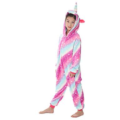 cheap Kids' Fashion-Kids Girls' Active Rainbow Zipper Sleepwear Purple