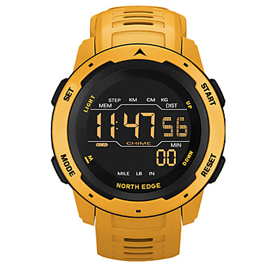 cheap Men's Watches-NORTH EDGE Men's Digital Watch Digital Sporty Stylish Casual Water Resistant / Waterproof Digital Black Red Yellow / One Year