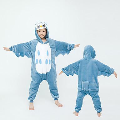 cheap Kids' Fashion-Kids Girls' Active Solid Colored Sleepwear Navy Blue