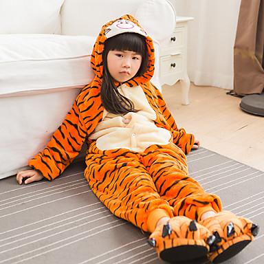 cheap Kids' Fashion-Kids Girls' Active Color Block Print Sleepwear Orange