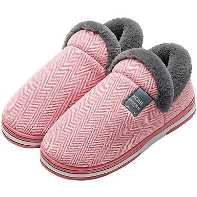 cheap Slippers-Women's Slippers / Men's Slippers House Slippers Casual Faux Fur Shoes