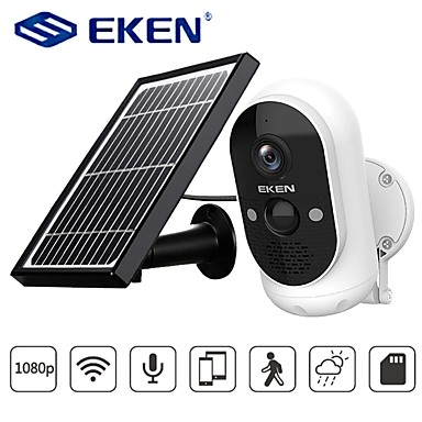 Security & Safety-EKEN Safety-Monitor Astro Solar energy 1080P Wifi Battery Camera IP65 weatherproof Motion Detection IR Night Vision Wireless IP Camera