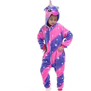 cheap Kids' Fashion-Kids Girls' Active Color Block Print Sleepwear Purple
