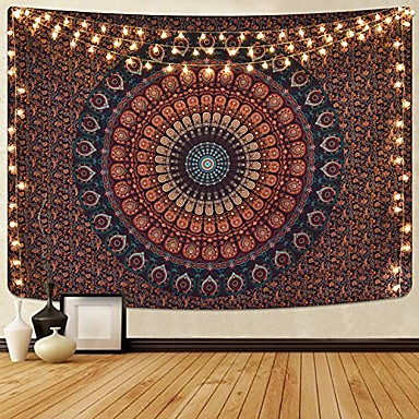 cheap Landscape Tapestries-Mandala Bohemian Wall Tapestry Art Decor Blanket Curtain Picnic Tablecloth Hanging Home Bedroom Living Room Dorm Decoration Boho Hippie Psychedelic Floral Flower Lotus