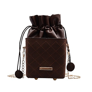 cheap Crossbody Bags-Women's Bags PU Leather Crossbody Bag Chain for Daily Black / Yellow / Green / Brown