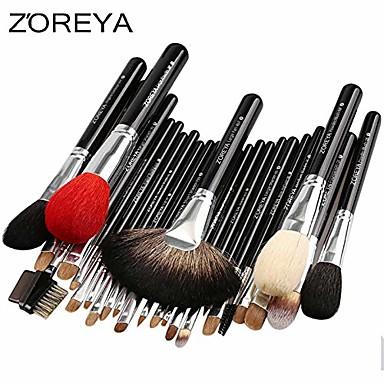 cheap Makeup Brush Sets-brand 26pcs luxury natural goat hair fan makeup brushes professional cosmetic makeup