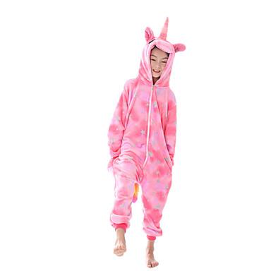 cheap Kids' Fashion-Kids Girls' Active Print Zipper Sleepwear Blushing Pink