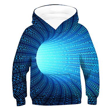 Χαμηλού Κόστους Παιδιά & παιδιά-Παιδιά Αγορίστικα Ενεργό 3D Μακρυμάνικο Μπλούζα με Κουκούλα & Φούτερ Μπλε Απαλό
