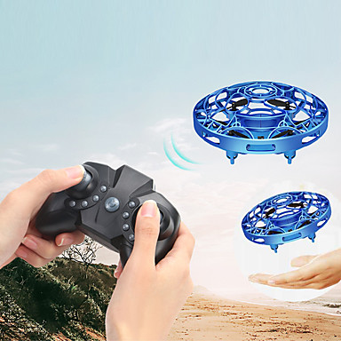 cheap Drones & Radio Controls-Mini Flying Helicopter UFO RC Drone Hand Sensing Aircraft Electronic Model Helicopter Flayaball Toys Small Drone