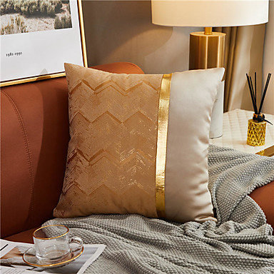 cheap Decorative Pillows-Pillow Case Cover Wave Color Matching European Style Light Luxury Pillow Case Cover High Precision Jacquard Pillow Case Cover Living Room Bedroom Sofa Cushion Cover