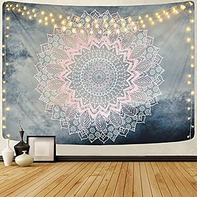 abordables Tapisseries murales-mandala bohème tapisserie murale art décor couverture rideau pique-nique nappe suspendu maison chambre salon dortoir décoration boho hippie psychédélique fleur floral lotus