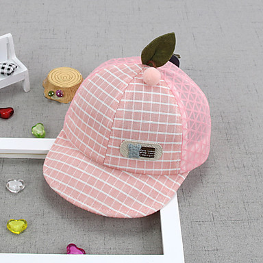 cheap Kids' Accessories-1pcs Toddler Unisex Active Houndstooth / Cartoon Embroidered Hats & Caps Red / Blushing Pink One-Size