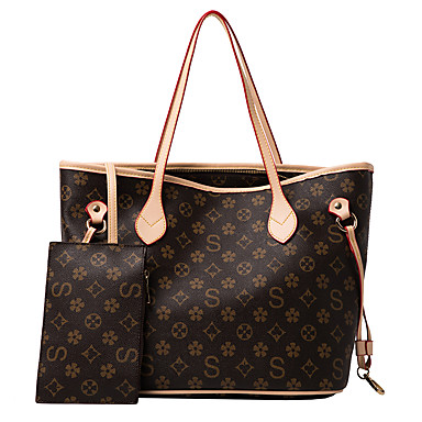cheap Bag Sets-Women's Bags PU Leather Bag Set 2 Pieces Purse Set Pattern / Print for Daily Black / Yellow / Beige / Bag Sets