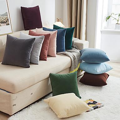 cheap Decorative Pillows-Decorative Pillows Sofa Cushion Covers Pure Color Simple Car Home Decor Multicolour Throw Case on the Pillow