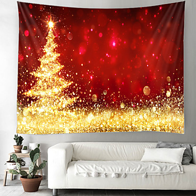 cheap Wall Tapestries-Christmas Day Party Wall Tapestry Art Decor Blanket Curtain Picnic Table Cloth Hanging Home Bedroom Living Room Dormitory Decoration Christmas Tree