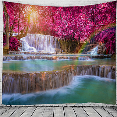 cheap Wall Tapestries-Beautiful And Spectacular Waterfall Scenery Pattern Tapestry Wall Hanging Tapestry Wall Carpet Wall Art Wall Decoration Tapestry Wall Decoration