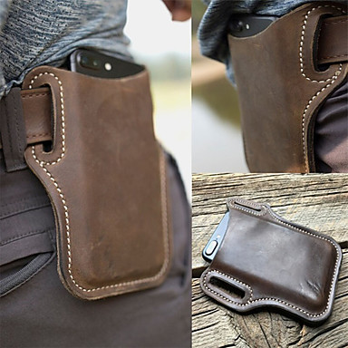"""AG Wallets Genuine Leather Joggers Fanny Pack with 18/"""" Extension Black"""