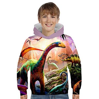 billiga Spädbarn & Barn-pojkar flickor 3d-tryck grafiska tröjor långärmade tröjor med dragkedja med ficka 3-16 år