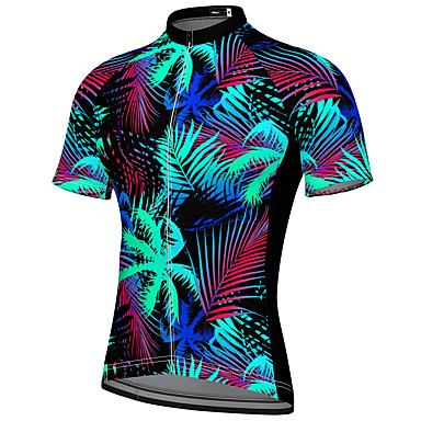 cheap Cycling Jerseys-21Grams Men's Short Sleeve Cycling Jersey Spandex Black Bike Top Mountain Bike MTB Road Bike Cycling Breathable Quick Dry Sports Clothing Apparel / Athleisure