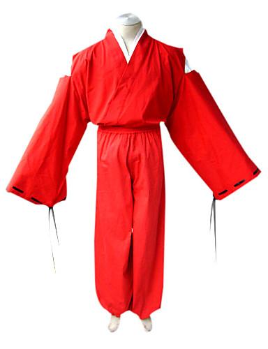 povoljno Anime cosplay-Inspirirana InuYasha Inu Yasha Anime Cosplay nošnje Japanski Cosplay Suits / Kimono Jednobojni Dugih rukava Top / Kimono Dlaka / Hakama hlače Za Muškarci