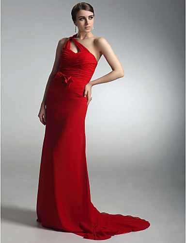 távolság! köpeny   oszlop egy váll söprés vonat chiffon szatén estélyi ruha  ihlette natalie jel a Golden Globe 450395 2019 –  79.99 505d5ccdcb