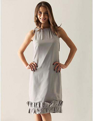 977e5eae6d26 θήκη   στήλη Bateau γόνατο σιφόν πάνω από ελαστική παράνυμφων σατέν    γαμήλιο φόρεμα 118941 2019 –  39.99