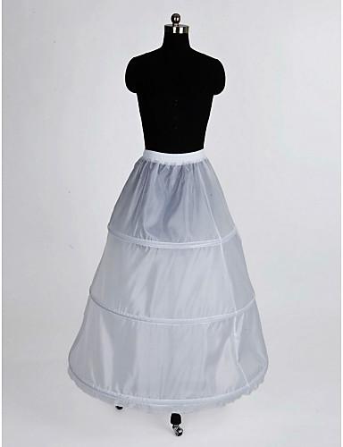 preiswerte Hochzeits Petticoats-Hochzeit Besondere Anlässe Unterhosen Nylon Bodenlänge A-Linie Mit