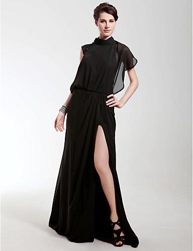 477e97781c0 Chiffon Sheath Column High Neck Sweep Brush Train Evening Dress inspired by  Angelina Jolie 165069 2019 –  49.99