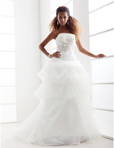 Lanting menyasszony egy soros   hercegnő vékony   plusz méretű menyasszonyi  ruha-kápolna vonat 176143 2019 –  249.99 4f29577326