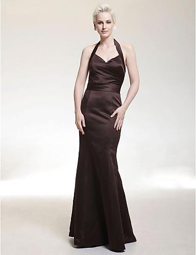 e175b8b057c8 Trumpet  Mermaid Halter Floor-length Satin Bridesmaid  Wedding Party Dress  179850 2019 –  99.99