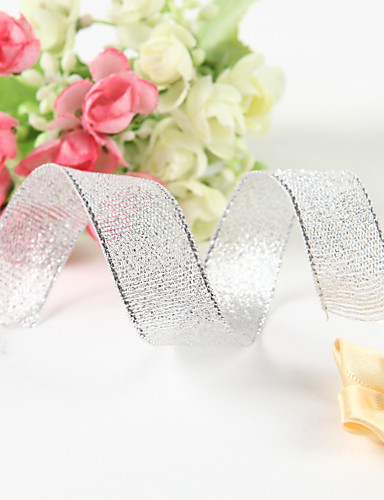 preiswerte Unter €7-Volltonfarbe Metalic Hochzeits-Bänder Stück / Set Metallic Band Dekorativer Geschenkhalter Dekorative Geschenkbox