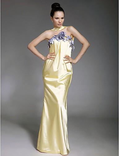 58a0c51ccc8 Elastic Woven Satin Sheath  Column Halter Evening Dress inspired by Sarah  Jessica Parker at Oscar 92779 2019 –  149.99