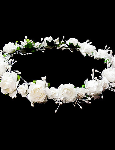 cheap Wedding Accessories-Headpieces Wedding Flower Girl Wreath With Lovely Flowers