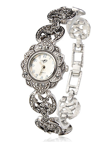 cheap Bracelet Watches-Women's Bracelet Watch Japanese Quartz Silver Casual Watch Analog Ladies Flower Fashion Elegant - Silver One Year Battery Life / SSUO SR626SW